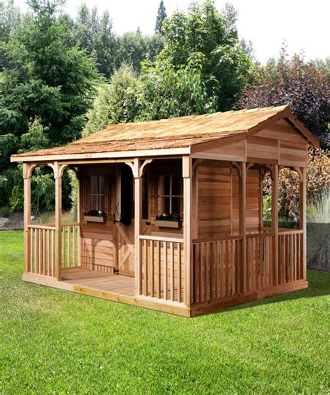 outdoor cooking shed backyard dining area cedarshed canada