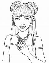 Girly Coloring Printable sketch template