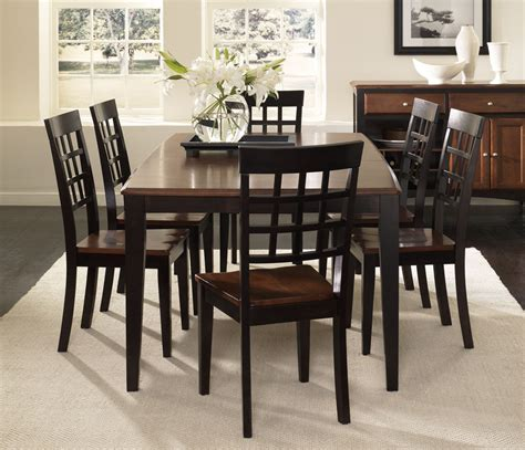 7 pc dining room set steve silver wilson 7 piece 60x42 dining room set in espresso sets pc image oak round