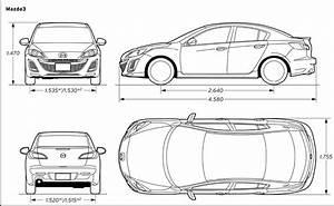 Dimension Mazda 3 : mazda 3 blueprint id es d 39 image de voiture ~ Maxctalentgroup.com Avis de Voitures