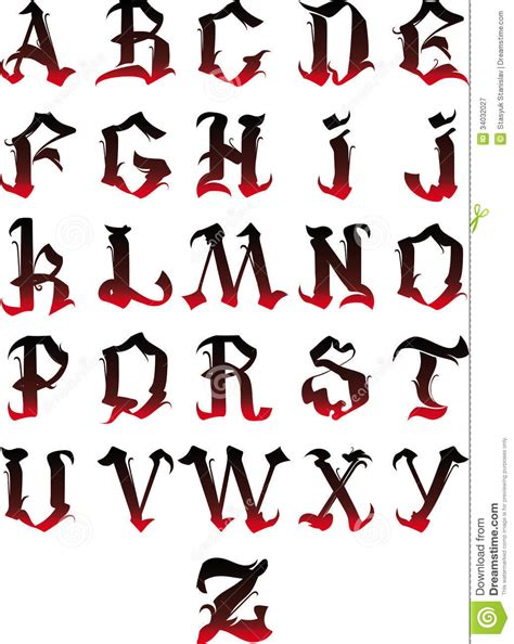 lettere alfabeto gotico alfabeto gotico fotografia stock libera da diritti