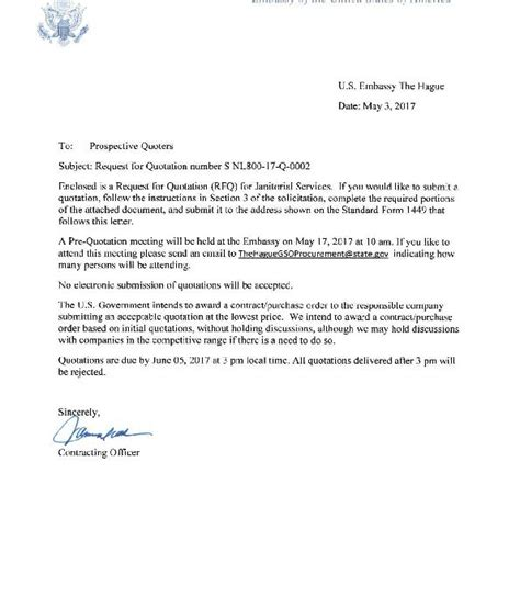 Cover Letter For Consular Assistant by Cover Letter Janitorial Services Snl80017q0002 U S