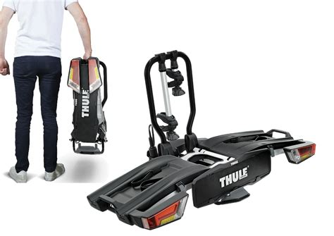 thule 933 easyfold 2 bike xt cycle carrier rack tow bar mounted foldable