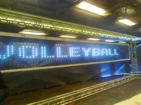 light up volleyball net mike rowbottom fivb lights up the field of sport with a
