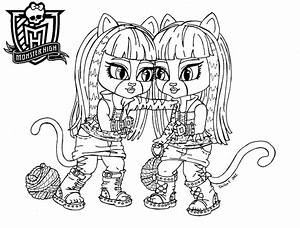 Baby Monster High Coloring Pages | Baby Purrsephone et ...