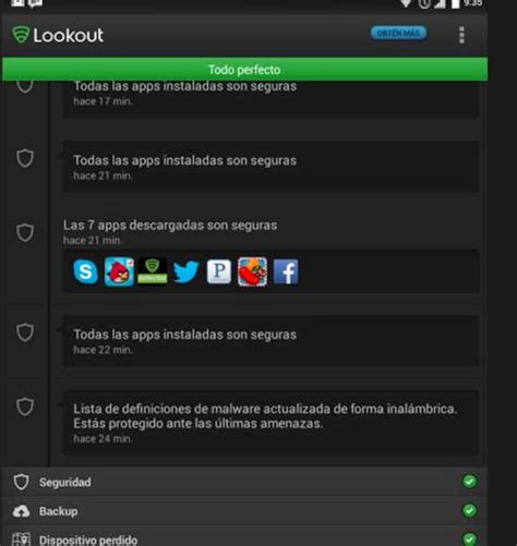 lookout android lookout antivirus app para android