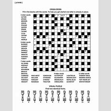 Puzzle Page With Word Game And Picture Riddle Stock Vector  Illustration Of Crossword, 19x19