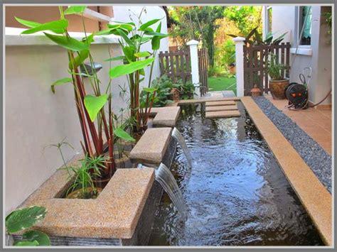 membuat kolam ikan hias  tanaman  keindahan rumah