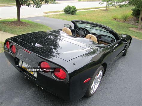 chevrolet corvette convertible manual black  tan
