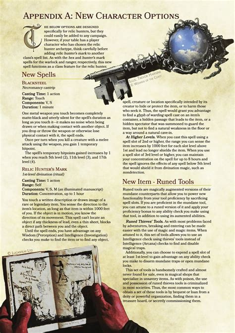 dnd 5e homebrew rogue relic hunter dungeons dragons rpg dragon weapons key rogues