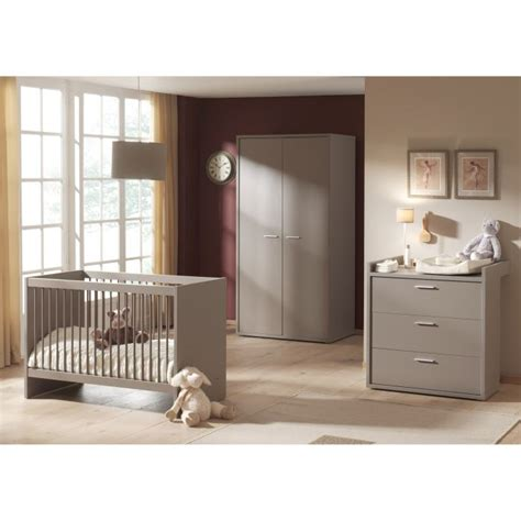 chambre bébé lola chambre b 233 b 233 compl 232 te donna gris achat vente chambre