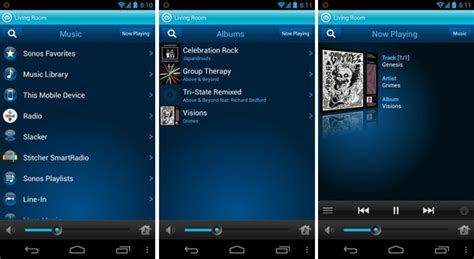 sonos for android now streams on device