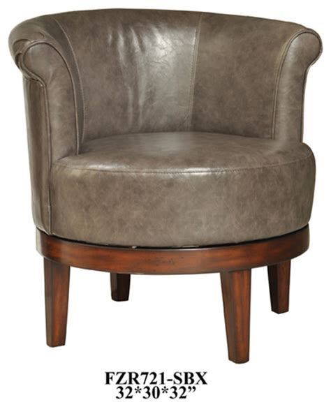 crestview camden grey leather swivel chair contemporary