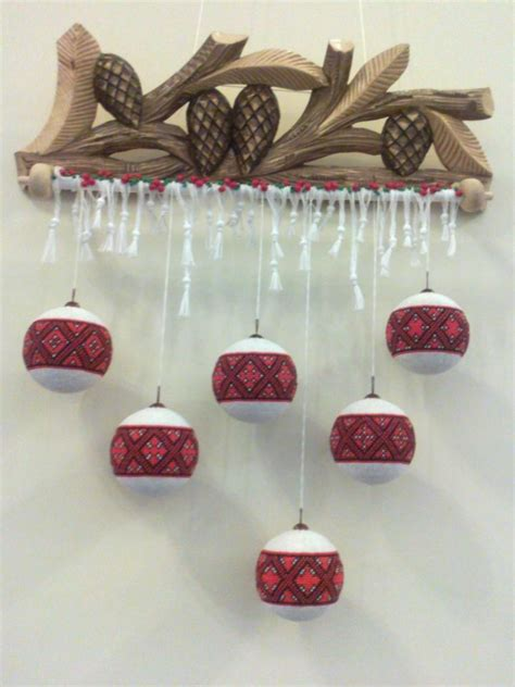 embroidered ornaments for christmas ukraine from iryna