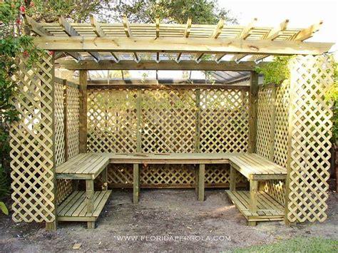 pergola wrapped  lattice   orchid house shade