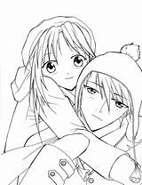 Coloring Anime Couple Emo Couples Printable Sad Outline Winter Sheets Template Tombstone Digs Meganekko Bomb Bestcoloringpagesforkids Coloring4free Getcolorings Sketch Adult sketch template