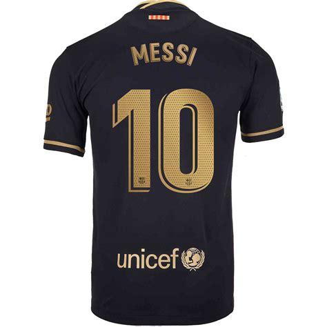 202021 Kids Lionel Messi Barcelona Away Jersey Soccer