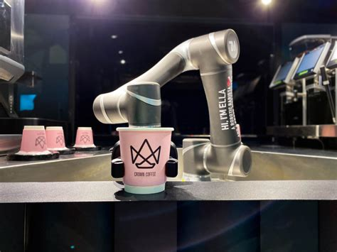 She is a barista with a very strong arm. This is ELLA cool: Singapore's First Autonomous Robotic Barista