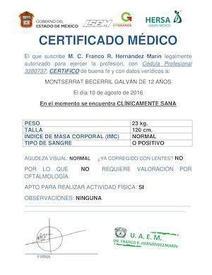calam 233 o certificados medicos en linea