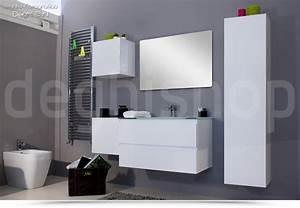 Mobili da bagno sospesi 80cm arredobagno moderno bianco for Bagni sospesi moderni
