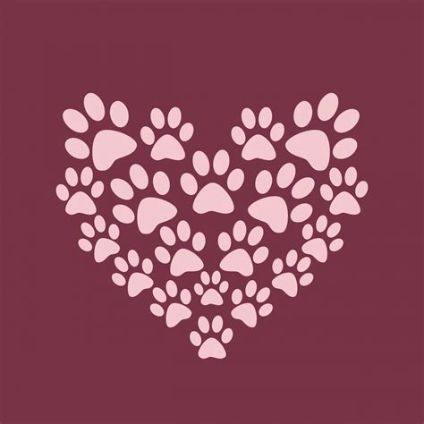 clipart purple paw print background   cliparts