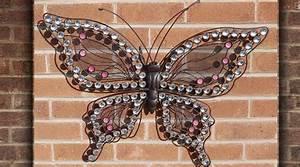 Papillon Décoration Murale : d coration papillon mural en fer forg d corations murales papillons d co murale animaux ~ Teatrodelosmanantiales.com Idées de Décoration