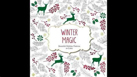 flip through winter magic coloring book youtube