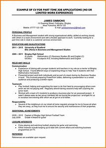 resume objective for a part time job sidemcicekcom With sample of resume for part time job by student