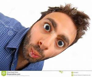 Wow Expression With Dilatated Pupils Stock Image - Image ...