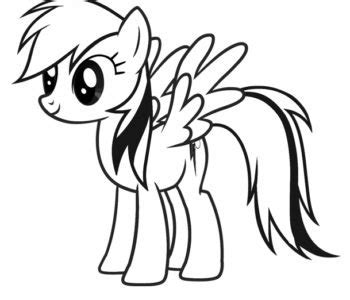 kolorowanka   pony rainbow dash bajkowe malowanki