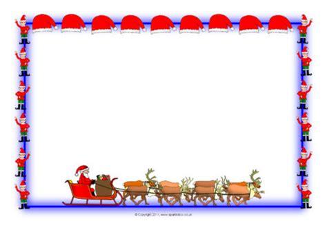 christmas  landscape page borders  sb sparklebox