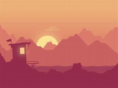 Dribbble Hut Animation Night Background Pixel Cartoon