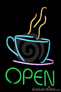 Neon Cafe Sign Royalty Free Stock s Image