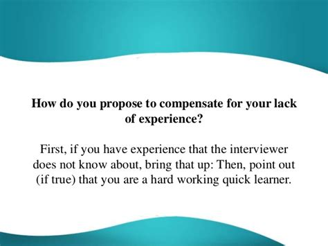 propose  compensate   lack  experience