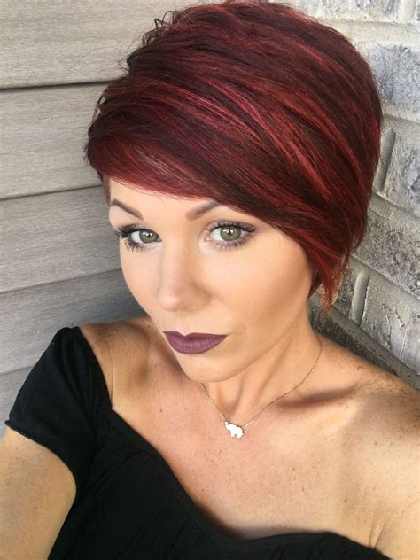 red pixie with highlights hairstyles inspiration short