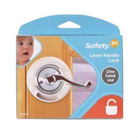 safety st french door lever handle baby proof child lock