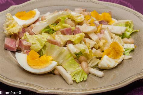 cuisiner des haricots blancs salade de haricots blancs au jambon oeufs et radis noir