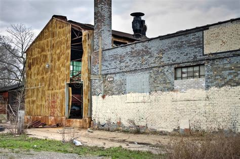 warehouse exterior abandoned industrial factory warehouse exterior stock Abandoned