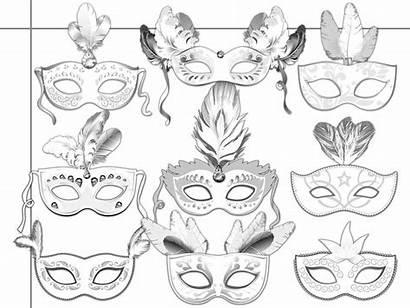 Masks Printable Coloring Masquerade Mask Paper Carnival