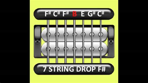Perfect Guitar Tuner (7 String Drop F# / Gb = F# C# F# B E