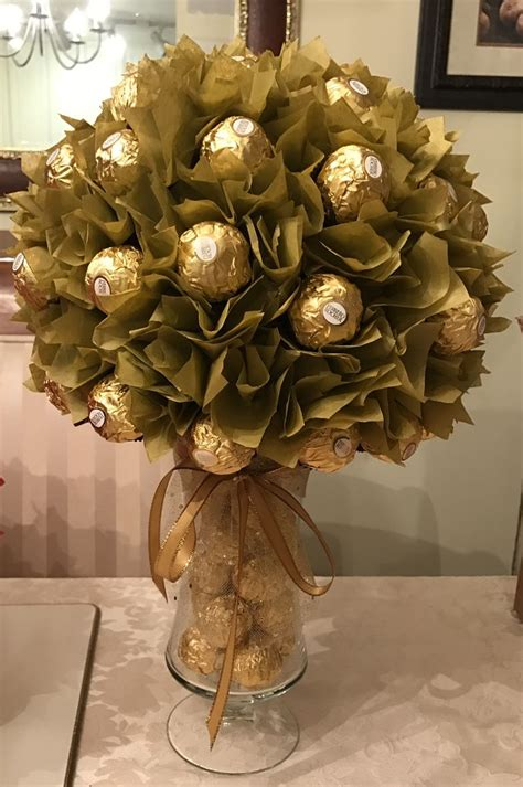 diy ferrero rocher centerpiece chocolate bouquet diy