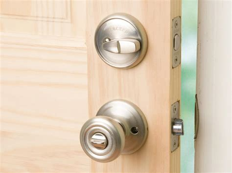 how to install a deadbolt and lockset how tos diy