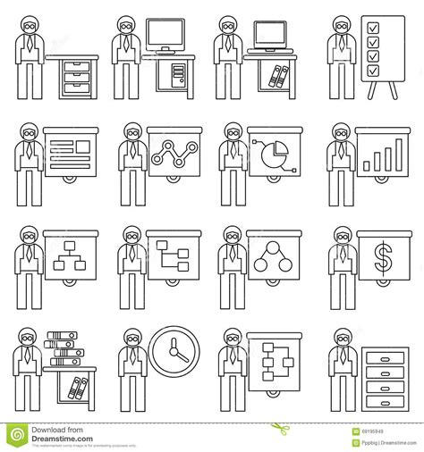 employ馥 de bureau employé de bureau illustration stock image 69195949
