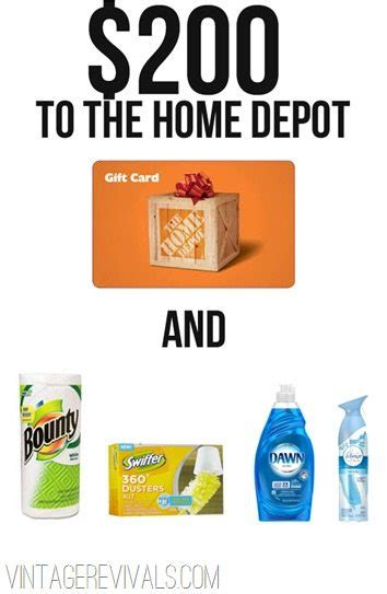 home depot sweepstakes 200 home depot giveaway 5k sweepstakes vintage revivals