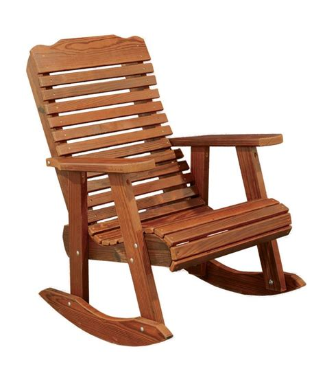 cedar wood contoured rocking chair from dutchcrafters