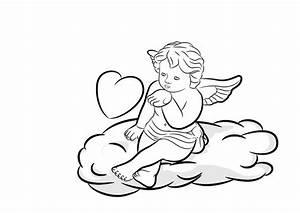 Engel Auf Wolke Schlafend : fototapete engel mit herz auf wolke schwarz weiss valentinstag ~ Bigdaddyawards.com Haus und Dekorationen