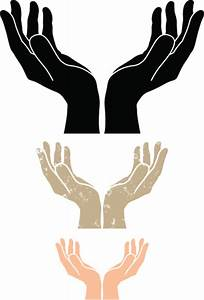 Cupped Hands Silhouette Vector Art | Getty Images