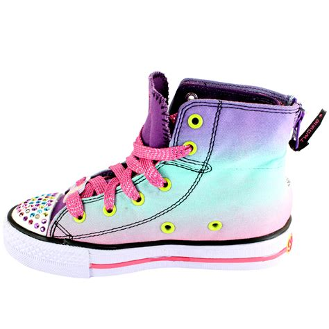 light up high tops kids skechers wild lights twinkle toes high top light up