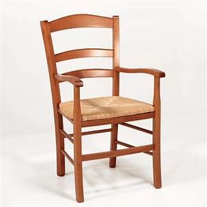 Un Dossier De Chaise : fauteuil en bois rustique et paille broc liande 4 ~ Premium-room.com Idées de Décoration