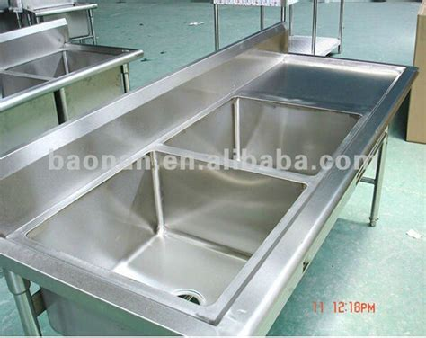 Kitchen Sinks With Drainboards Stainless Steel by Commercial Stainless Steel Bowl Kitchen Sink With